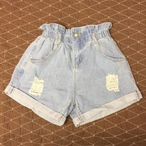 Shein distressed denim shorts size L